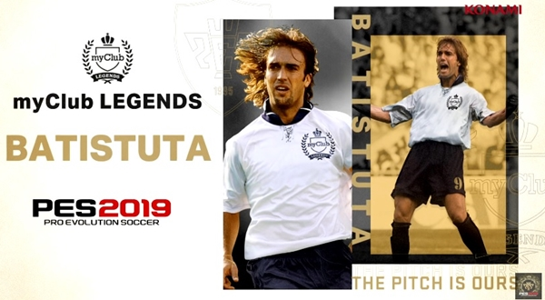 PES 2019: Gabriel Batistuta ya disponible en myClub Legends