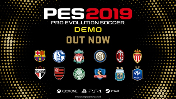 PES 2019: Demo ya disponible para descargar en PlayStation 4, Xbox One y PC