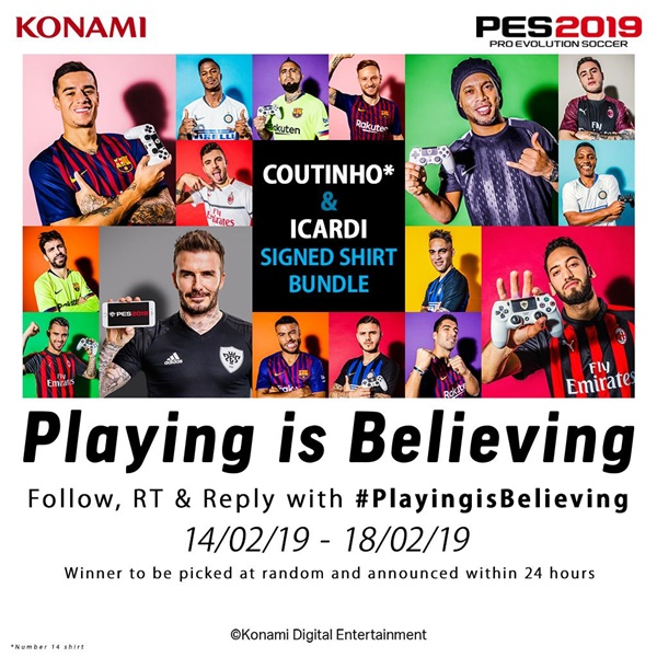 La Campaña de PES 2019 Playing is Believing comienza hoy