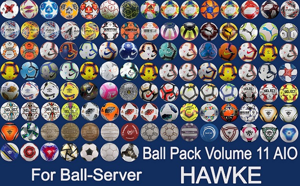 BallServer Pack Vol 11 AIO 113 balones PES 2019 - by Hawke
