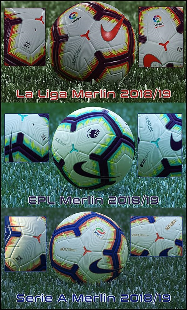 Ball Pack vol 1 PES 2019 - by Hawke