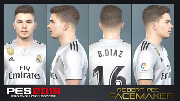 Brahim Diaz Real Madrid Face PES 2019 - by RobertPes Facemaker