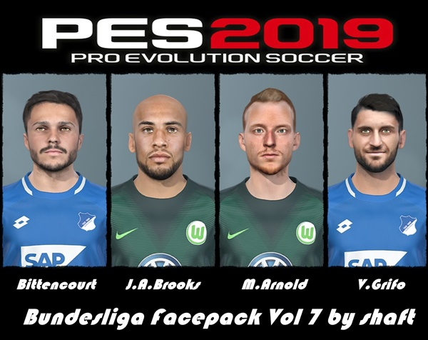 Bundesliga Facepack Vol7 PES 2019 - by shaft