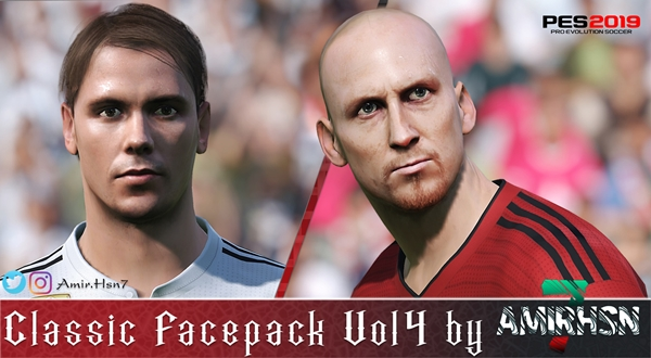 Classic Facepack PES 2019 Vol 4 - by Amir.Hsn7