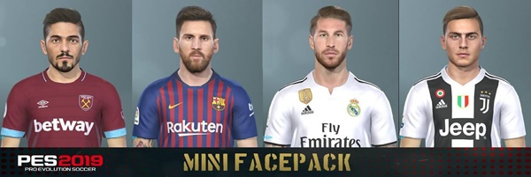 FacePack 13-12 PES 2019 - by Messi Pradeep
