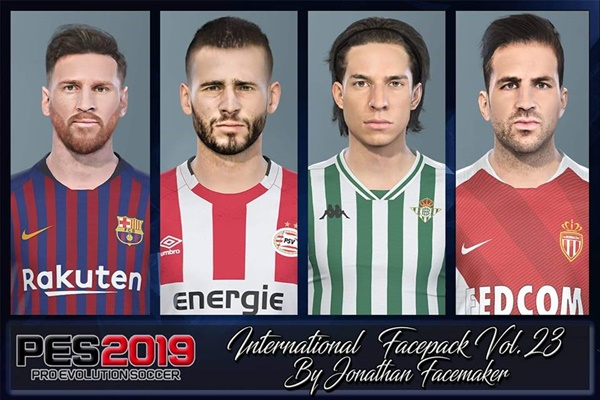 Facepack Vol.23 PES 2019 - by Jonathan Facemaker