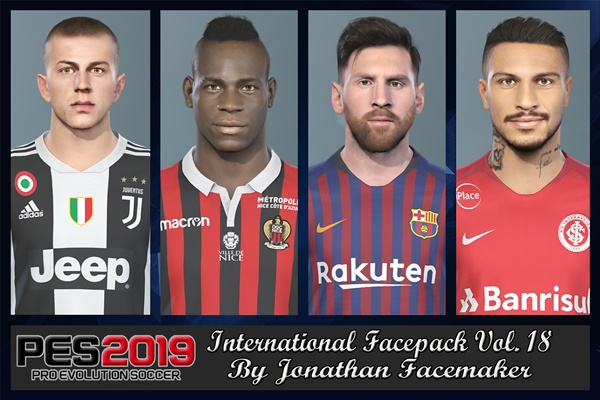 International Facepack Vol 18 PES 2019 - by Jonathan Facemaker