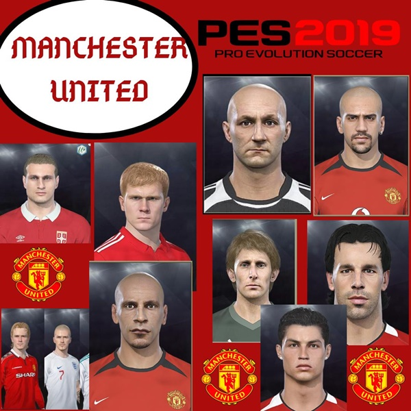 Manchester United Legends Facepack PES 2019 - by WhatTheDuck