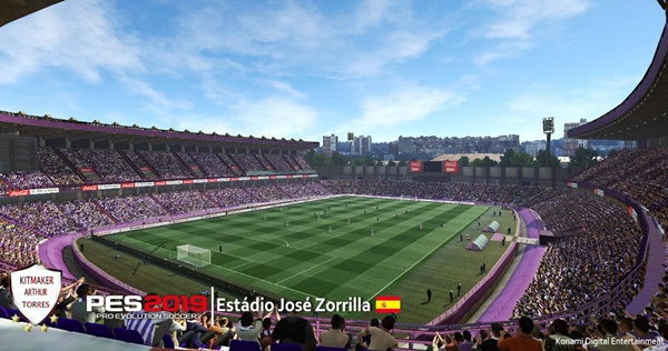 Estadio Municipal José Zorrilla Valladolid PES 2019 - by Arthur Torres