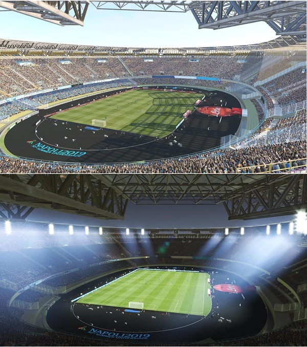 San Paolo Stadium Napoles PES 2019 - by Ismail1795