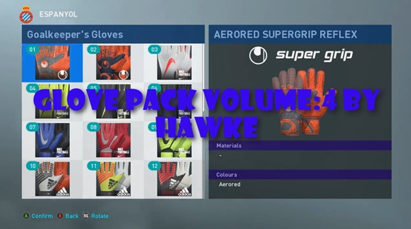 Guantes Pack PES 2019 Vol.4 - by Hawke