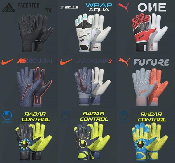 Pack de guantes PES 2029 - by Tisera09