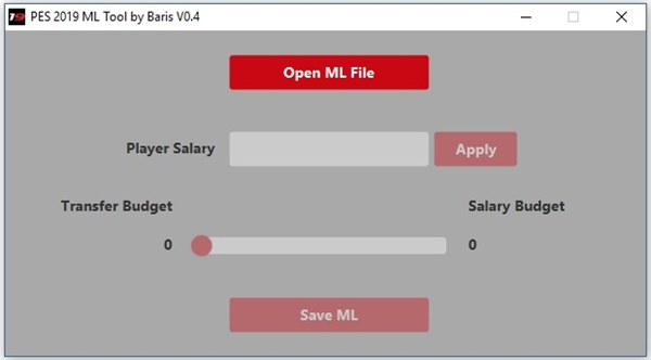 Master League Tool PES 2019 v0.4 - by Baris