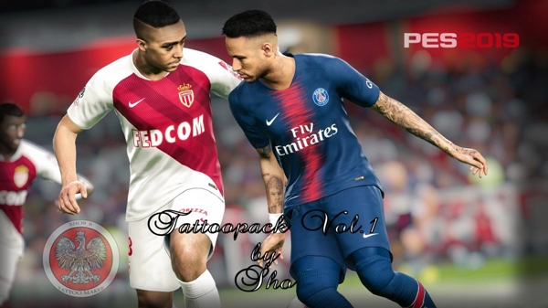 Tattoo Pack Vol 1 PES 2019 - by Sho