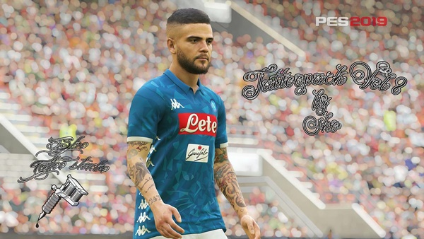 Tattoo Pack Vol 8 PES 2019 PC - by Sho