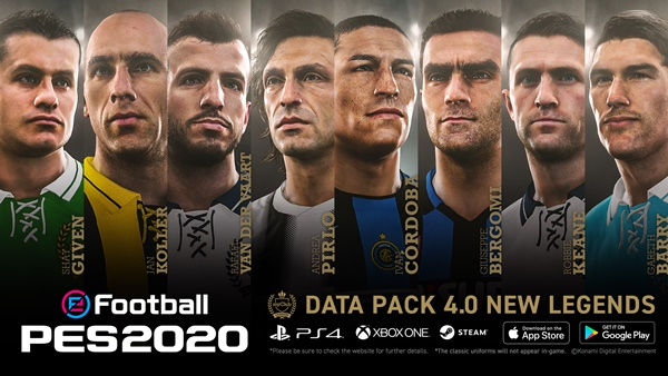 Ya disponible el DataPack 4.0 de eFootball PES 2020