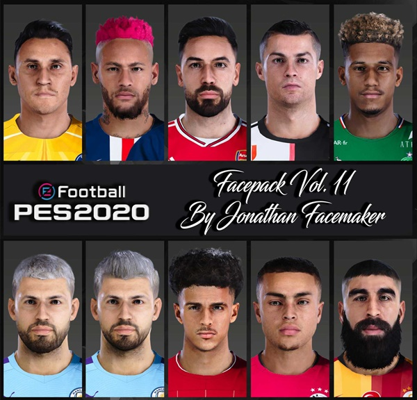 Facepack Vol 11 PES 2020 PC - by Jonathan Facemaker