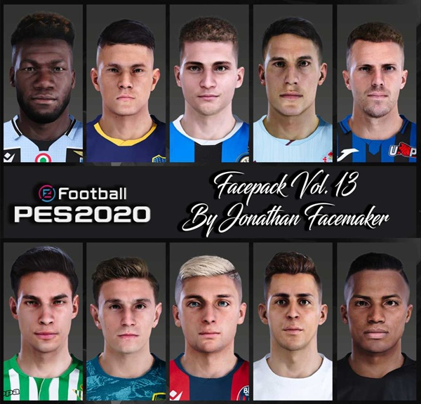 Facepack Vol 13 PES 2020 PC - by Jonathan Facemaker