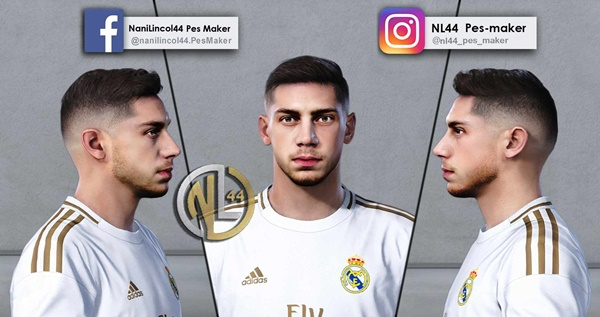 Federico Valverde Face PES 2020 PC - by NL44