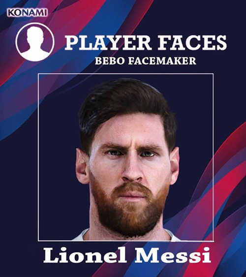 Lionel Messi Face PES 2020 PC - by BeboFacemaker
