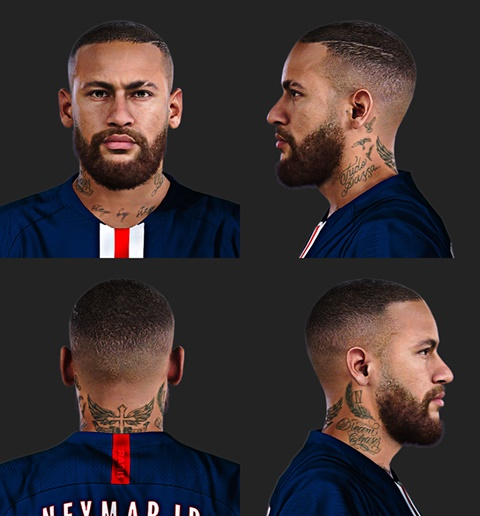 Neymar face PES 2020 PC - by Messipra and deep