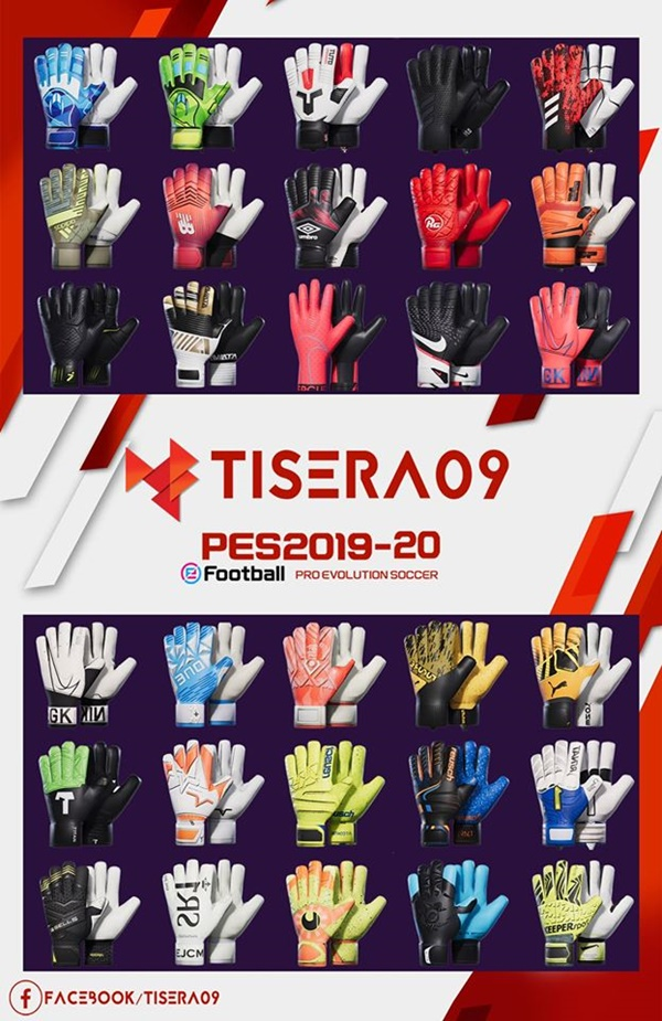 Pack de guantes porteros V2 PES 2020 PC - by Tisera09