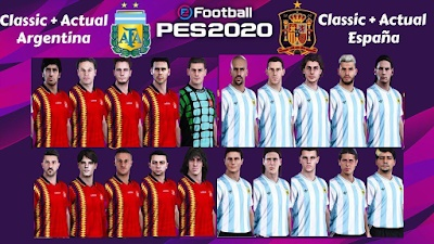 OF Selecciones clásicas y leyendas PES 2020 PS4 PC - by Pes Sudamerican Patch