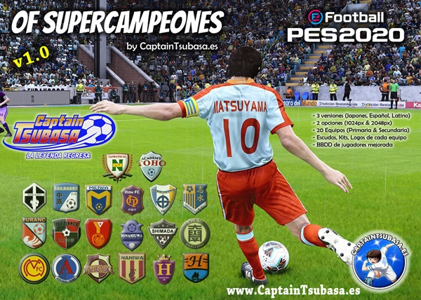 OF SuperCampeones V1.0 PES 2020 PS4 - by CaptainTsubasa.es