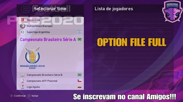 Option File Emerson Pereira V1.5 eFootball PES 2020 PS4