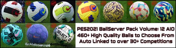 Ball Server Pack PES 2021 V12 - by Hawke