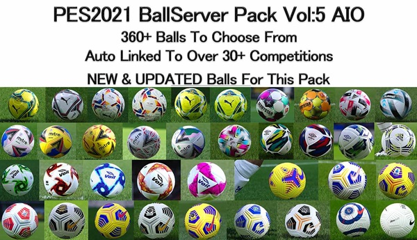 Ball Server Pack PES 2021 V5 - by Hawke