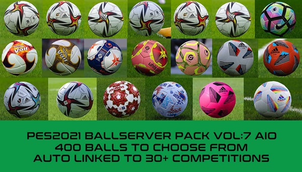 Ball Server Pack PES 2021 V7 - by Hawke