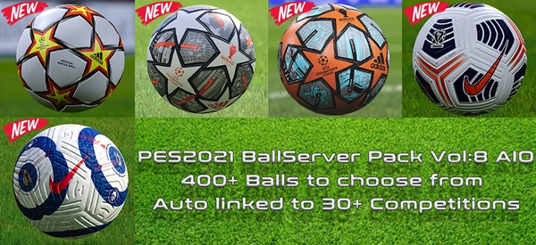 Ball Server Pack PES 2021 V8 - by Hawke