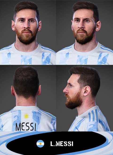Messi Face PES 2021 - by Messipradeep