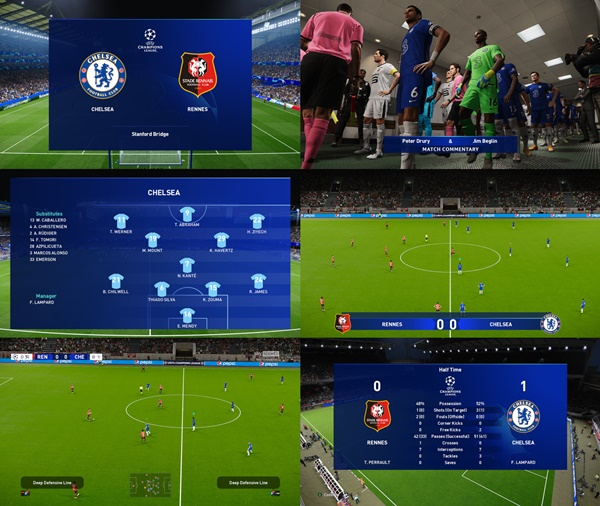 PL and Champions League Scoreboards PES 2021 - by spursfan18