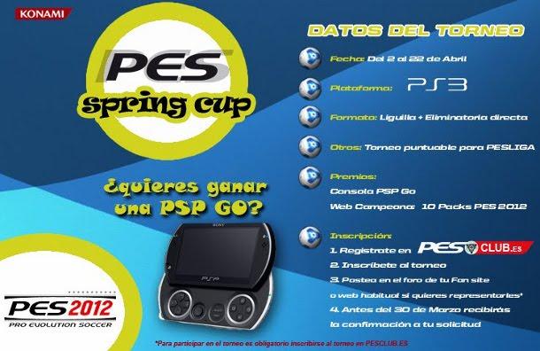 Representa a PeSoccerWorld en el torneo online PES SPRING CUP - PS3